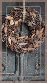 Krans Dennenappel Mix | 45 cm