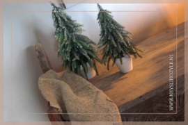 Kerstboom in pot glitter | S