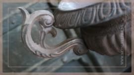 Franse pot ijzer met oren | bruin