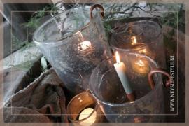 Hang kandelaar waxinelichtje | roest