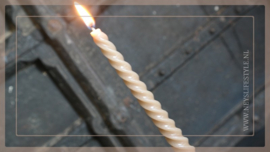 Spiraal kaars | bruin 6 st