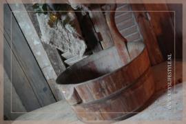 Oude houten sauna bak | 1