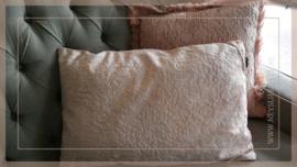 Kussen fluweel  40 x 60 cm | pink