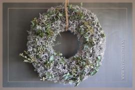 Krans bonsai mos opgemaakt| 60 cm