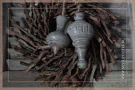 Klos hout Grey |  Tol