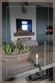 Tafelklem kaarsenhouder | roest