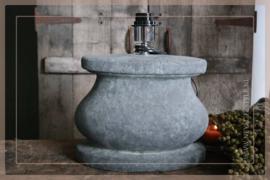Lampenvoet ovaal |  aardewerk