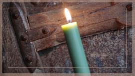 Diner kaarsen laag | groen
