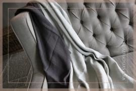 Plaid Zara 170 x 130 cm   light grey