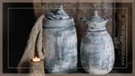 Oude Nepalese kruik met deksel | greywash 1