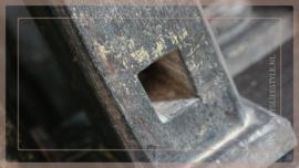 Klos kandelaar Ziggo    black S