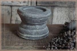 Kaarsenhouder poer   grey