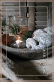 Stenen klos old white | L
