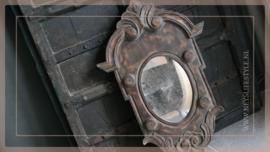 Spiegel Ossenoog hout | M bruin