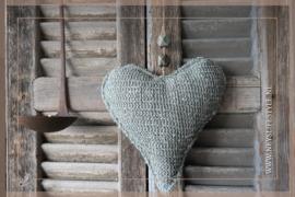 Hart hanger stof | grijs M