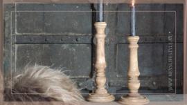 Kandelaar hout teak | S
