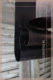 Wandkandelaar krul | smeedijzer
