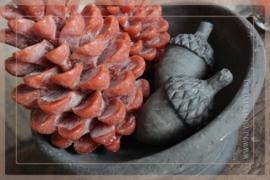 Kaars pine cone | cognac S