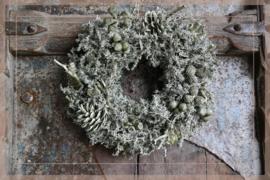 Wax krans Autumn green 23 cm