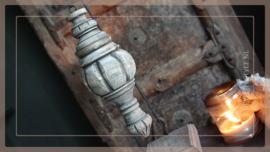 Pinakel hout hanger | greywash M