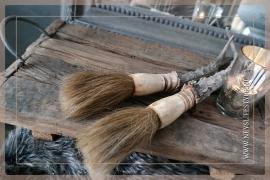 Oude houten tray/dienblad L