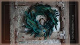 Peacock eye krans | 40 cm