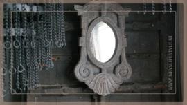 Spiegel Ossenoog hout | S