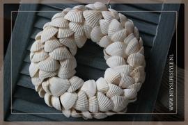 Krans Schelpen | Wit | 30-35 cm