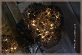 Heracleum tak LED bruin/aubergine | 90cm