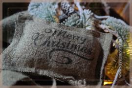 Geurkussen linnen | Merry Christmas