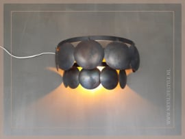 Schijfjes wandlamp | black