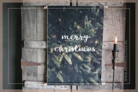 Wanddoek Merry Christmas LED | S