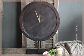 Klok op standaard | hout