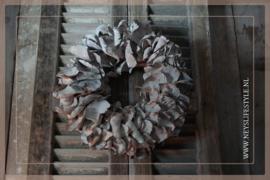 Krans palm petal   whitewash   38 cm
