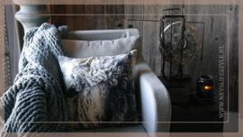 Kussen fluweel 50 x 50 cm | Schaap white