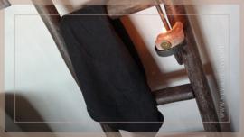 Luikkandelaar zwart metaal | stompkaars