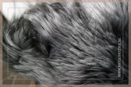 Schapenvacht kussen imitatie 50 x 50 cm | grijs