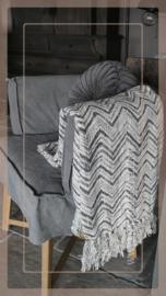 Plaid 130 x 170 cm | zigzag créme