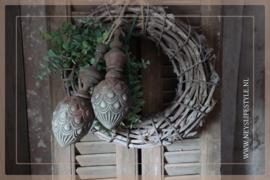 Klos met ornament Patty  | bruin