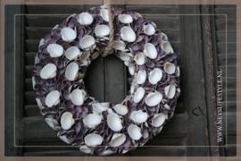Krans Schelpen   Violet   40 cm