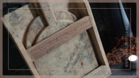 Broodplanken in houder | hout