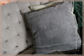 Kussen velvet | donkergrijs