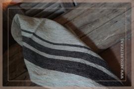 Linnen (thee) doek zwarte streep | 40 x 80 cm