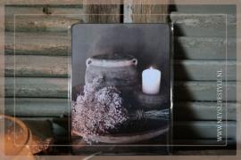 Deco bordje | droogbloemen met kruik