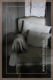Kussen Stripe linnen l 60 x 40 cm