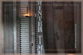 Houten bord |  WINTER TIME