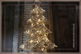 Kerstboom rotan LED  | L
