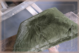 Kussen fake fur | dark green