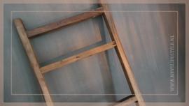 Ladder/trapje hardhout |  80 cm