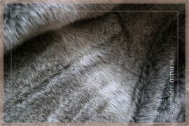 Luxe bont plaid 170 x 130 cm bruin/grijs